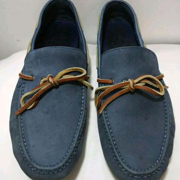 012fdabdf5547 Cole Haan Shoes | Blue Suede Driver Size 11 | Poshmark
